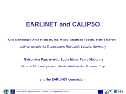 EARLINET and CALIPSO - UMBC Atmospheric Lidar Group