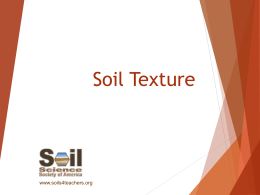 Soil Texture Lesson and Activity