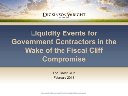 Liquidity Strategies for Government Contractors