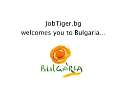 Welcome to Bulgaria