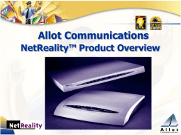 NetEnforcer and NetReality Products