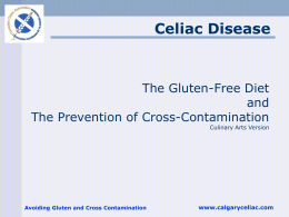 Avoiding Gluten and Cross Contamination