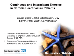 Continuous and intermittent exercise in chronic heart failure