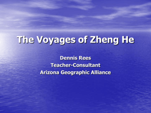 The Voyages of Zheng He - Arizona Geographic Alliance