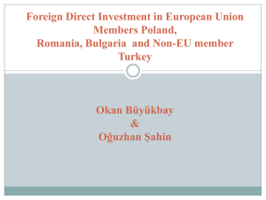 Foreign Direct Investment in European Union Members