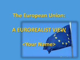 The EU: A Eurosceptic view