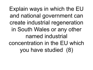 Explain ways in which the EU and national government can create