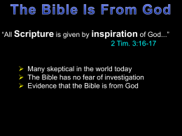 The Bible is from God - Radford Church of Christ