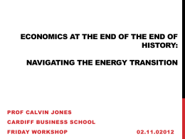 OIL AND GROWTH - Cardiff Business School