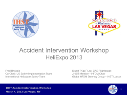 Introduction of Safety Workshop - HeliExpo 2013