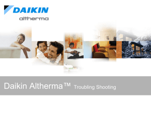 Daikin Altherma - Troublingshooting