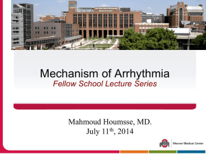 Mechanism of Arrhythmia