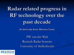 Radar related progress in RF technology over the past decade