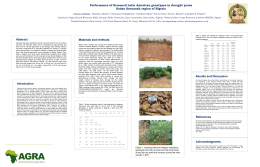 Performance of Screened Latin American Genotypes in drought