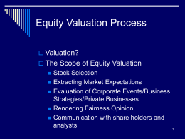 Ch01_Equity Valuation Process