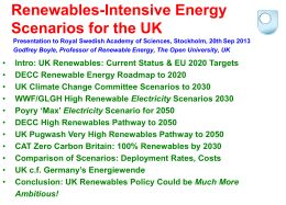 Godfrey Boyle: Renewables - Intensive Energy Scenarios