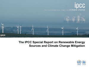 Report on Renewable Energy Sources and Climate Change
