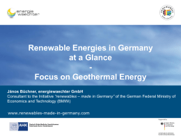 renewables – made in Germany