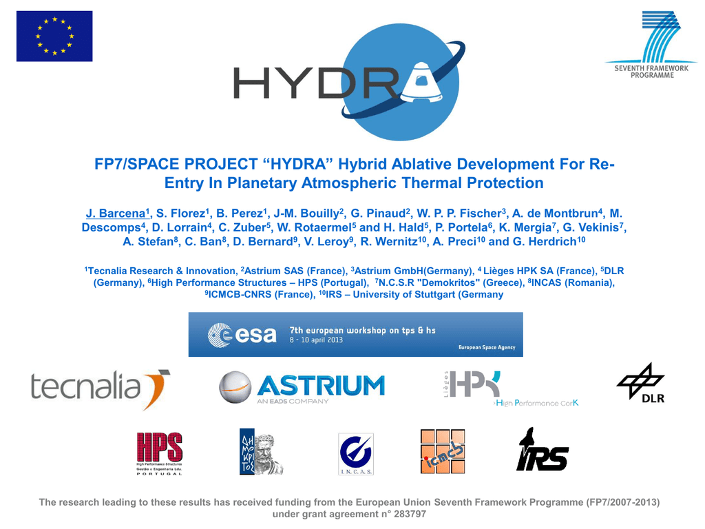 FP7/SPACE PROJECT ``HYDRA`