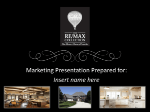 2013 The RE/MAX Collection Listing Presentation