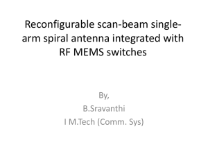 Reconfigurable scan-beam single-arm spiral antenna integrated