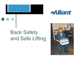 Back Safety and Safe Lifting Powerpoint