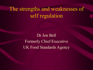 The strengths and weaknesses of self regulation