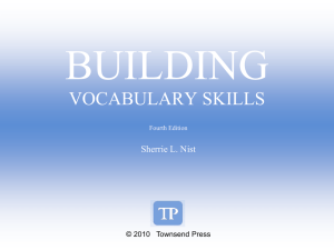 Building Vocabulary Ch 2