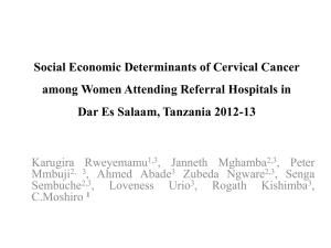 Social Economic Determinants of Cervical Cancer among Women