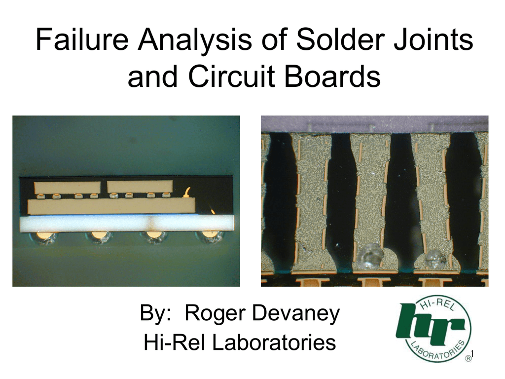 Solder Joint & Interconnect Technology and Failure Analysis