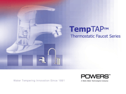 TempTAP - Watts Water Technologies