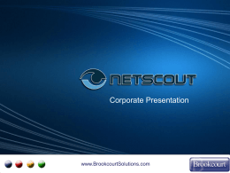 Netscout Corporate Presentation