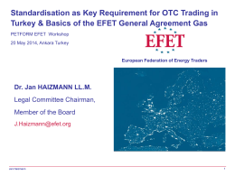 The EFET General Agreement
