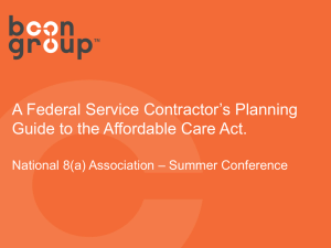 A Federal Service Contractors Planning Guide to the Affordable