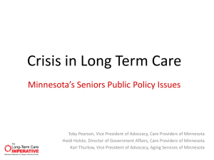 The Long-Term Care Imperative