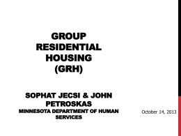 GRH Housing Rate - Minnesota Coalition for the Homeless