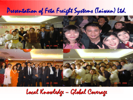 57_Presentation - FETA Freight Systems International