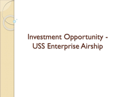 Investment Proposal for the USS Enterprise Airship