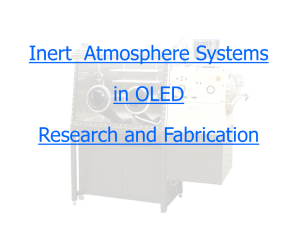 Inert Atmosphere Systems in OLED Research and Fabrication