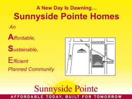 Affordable - Sunnyside Pointe
