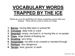 VOCABULARY WORDS TRAPPED BY THE ICE