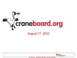 Why Craneboard?