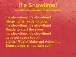 It`s Showtime words (Powerpoint)
