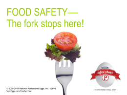 Food Safety Inservice Presentation (editable PowerPoint file with
