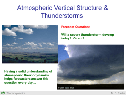 Atmospheric Vertical Structure and Thunderstorms