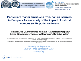 Particulate matter emissions from natural sources in Europe – A