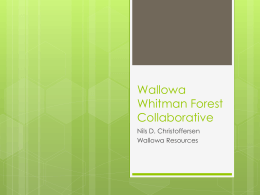 Wallowa Whitman Forest Collaborative