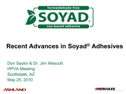 Recent Advances in Soyad® Adhesives