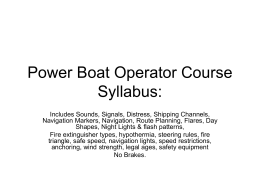 Power Boat Operator Course Theory