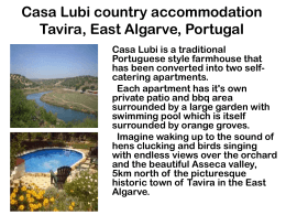 Casa Lubi country accomodation Tavira, East - Casa